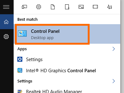 Windows - Control Panel