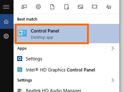 Windows - Control Panel