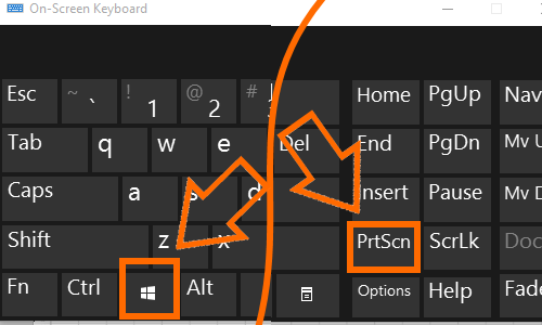 Windows Keyboard PrtSc Print Screen + Win Key