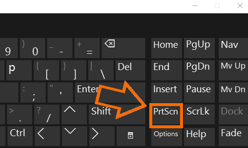 Windows Keyboard PrtSc Print Screen button