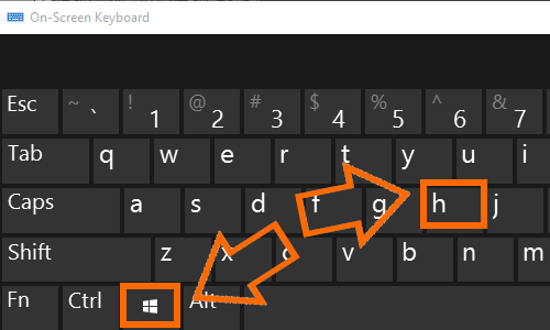 Windows Keyboard Win Key + H