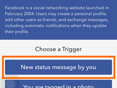 iPhone IF - Facebook - Action