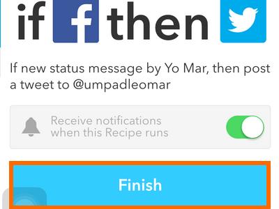 iPhone IF - REcipe Done