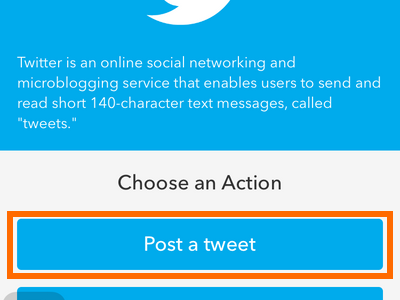 iPhone IF - Twitter - Post a Tweet