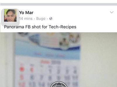 iphone Facebook Status - Panorama Shot Posted