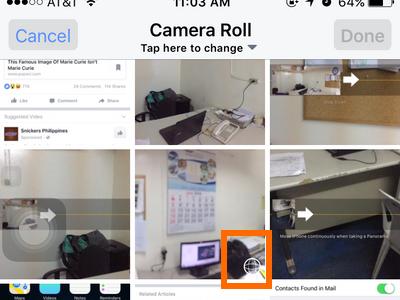 iphone Facebook Status - panorama icon