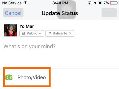 iphone Facebook Status - photo video