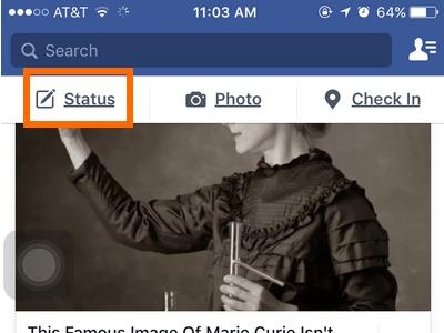 iphone Facebook Status