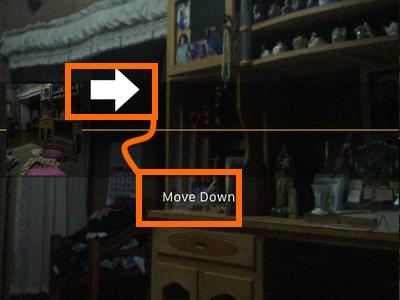 iphone panorama move down