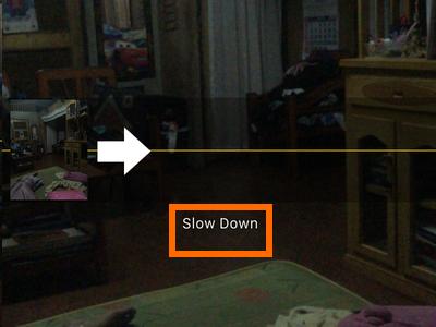 iphone panorama slow down