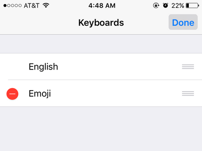 iphone settings keyboard menu