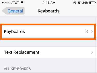 iphone settings keyboard