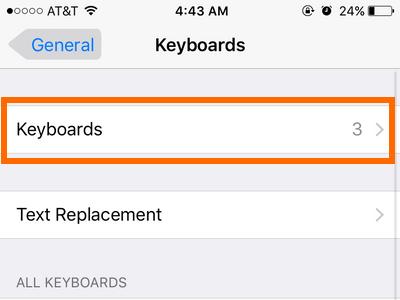 iphone settings keyboard