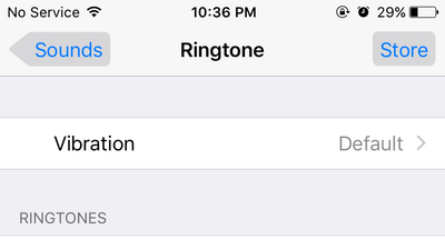 iphone settings - ringtone
