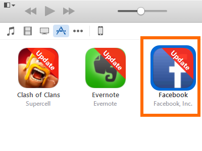 itunes -app store - app for update