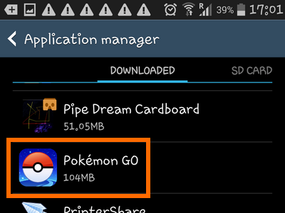 Android Home Apps Settings Application Manager Pokemon Go