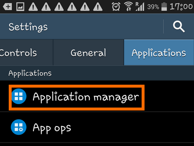Android Home Apps Settings Application Manager