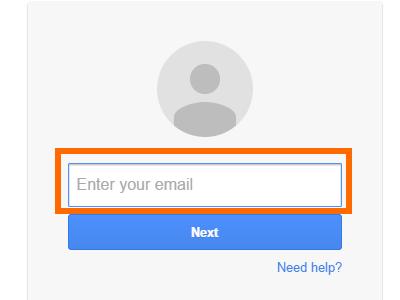 Enter Google Username