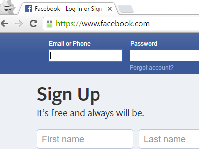 Fecbook Log In