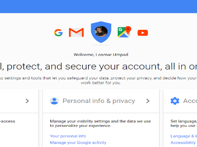 Google Account Page
