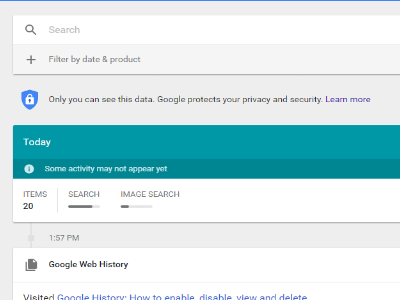 Google Activity Display