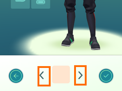 Pokemon Go - Customize Character - choose equipment style switcher