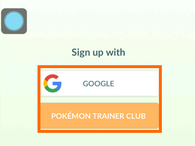 Pokemon Go - Sign up
