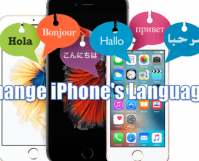 change iPhone language from any country