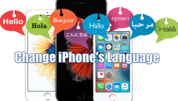 how to change your iphone language