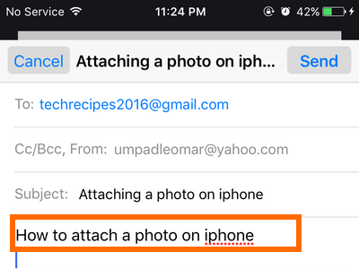 iphone Mail - create message