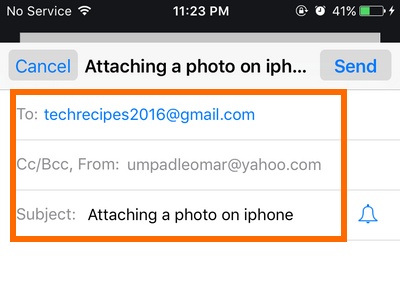 iphone Mail - email details