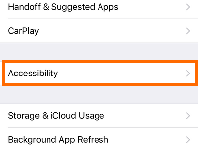 iphone Settings General Accessibility