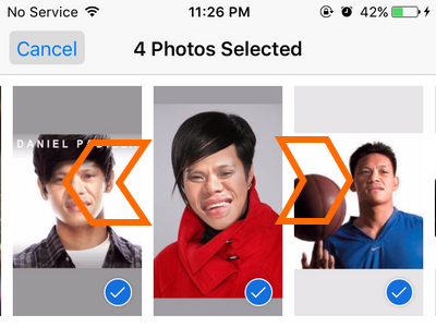 iphone photos - Swipe Left and Right