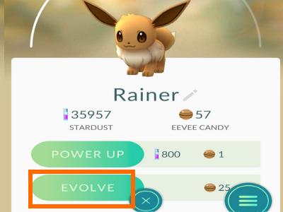 Pokomen GO Rainer Evolve