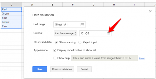 google-sheets-select-from-list