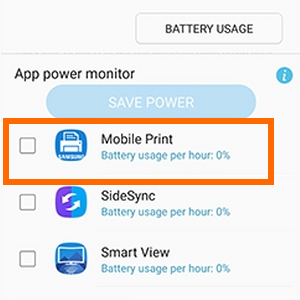 Note7 Settings Device Manager Battery Choose App