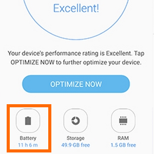 Note7 Settings Device Manager Battery