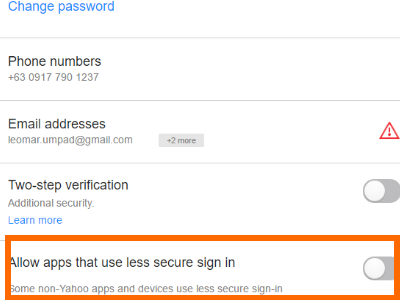 best way to secure yahoo account