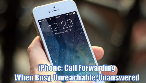 How to make phone not reachable in iphone