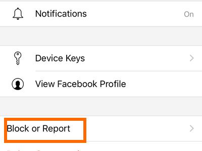 messenger-secret-message-block-or-report