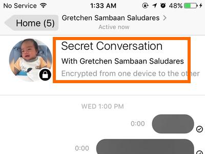 how to delete secret facebook messages