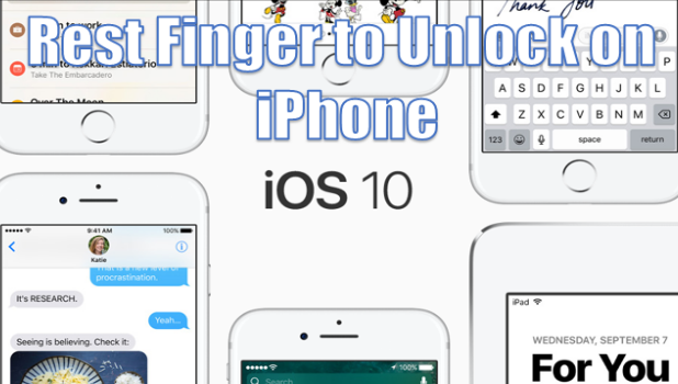 How to Disable Press Home to Unlock on iPhone iOS 10