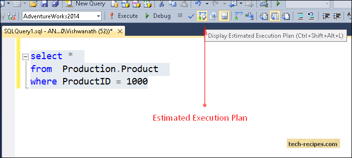 getting-estimated-execution-plan-in-sql-server-menu-bar