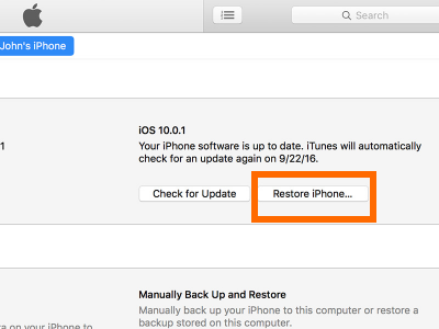 restore-iphone-on-itunes