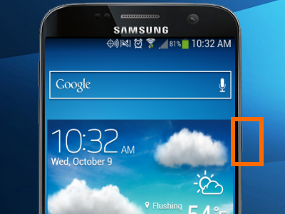 samsung-galaxy-turned-on-power-button