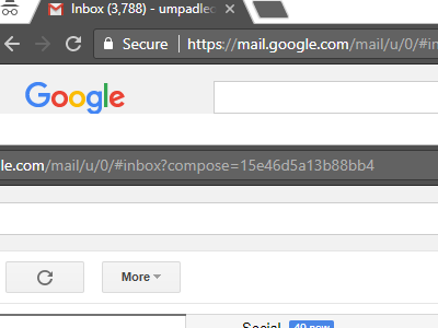 Gmail Compose New Message Button