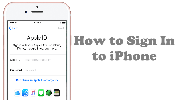 how to sign in with your apple id on iphone