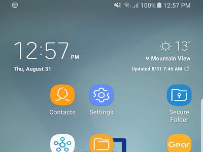 S8 Home Screen