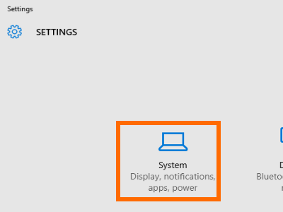 Windows 10 Start Menu Settings System Settings