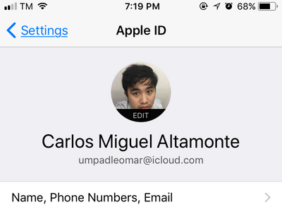 iCloud Account Connected